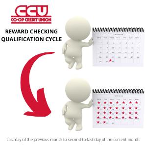 graphic showing reward checking qualification cycle